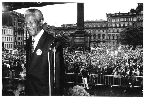 nelson mandela in glasgow