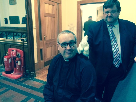 The Provost, the Director of Music, and the Easter Bunny
